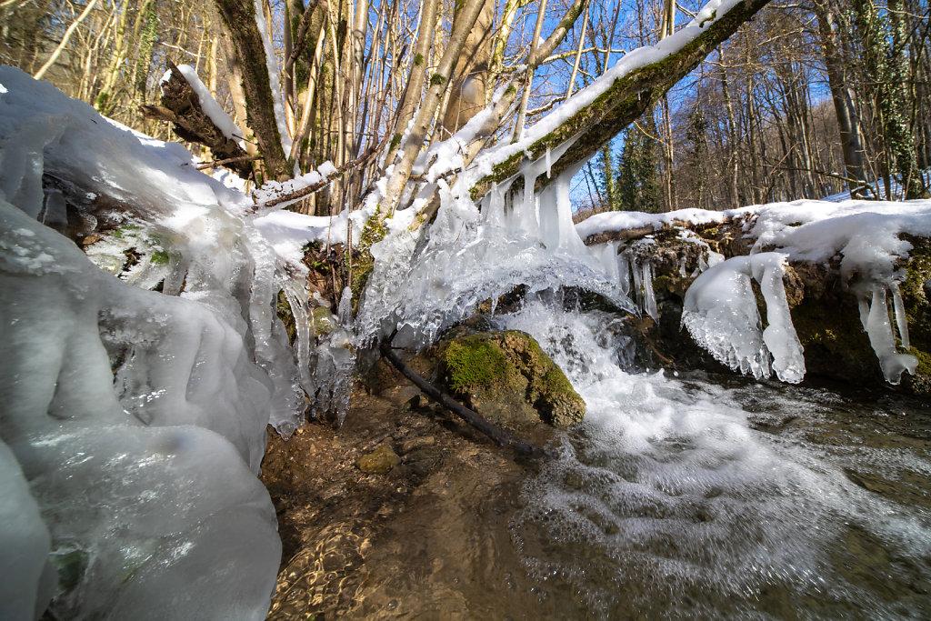 Eggerbach, kleiner Wasserfall